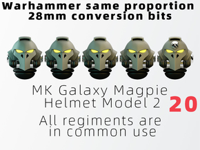 MK Galaxy Magpie Helmet Model 2 in Smooth Fine Detail Plastic