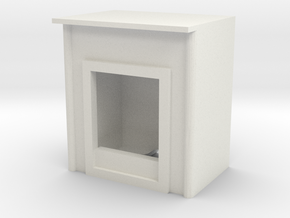 Fireplace 1/35 in White Natural Versatile Plastic