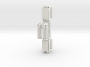 17 cm kanone eisenbahnlafette 1/87 kit  in White Natural Versatile Plastic
