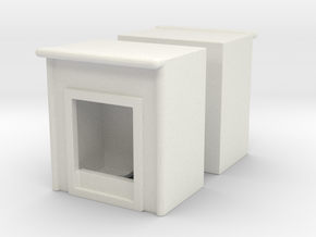 Fireplace (x2) 1/120 in White Natural Versatile Plastic