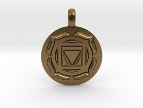 BASE ROOT Chakra Muladhara Symbol Pendant in Natural Bronze