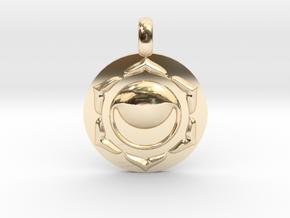 SACRAL SWADHISTANA Chakra Symbol Pendant in 14K Yellow Gold