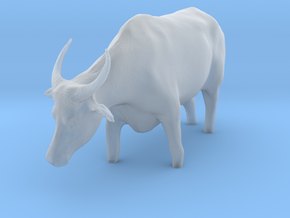 Domestic Asian Water Buffalo 1:20 Stands in Water in Smooth Fine Detail Plastic
