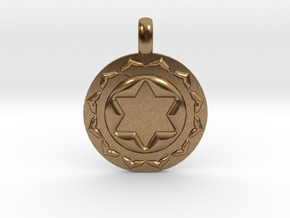 ANAHATA HEART Chakra Symbol Pendant in Natural Brass