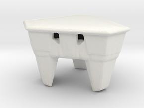 Escape Pod in White Natural Versatile Plastic