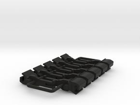 OO NEM Dummy Knuckle Coupling (Large) x10 in Black Natural Versatile Plastic