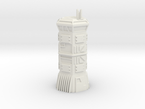 Armoured Hex Comm's Tower (6mm Scale) in White Natural Versatile Plastic