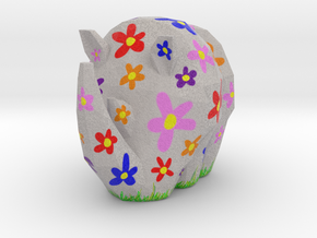Cammo Rhino - Flowers in Natural Full Color Sandstone: Small