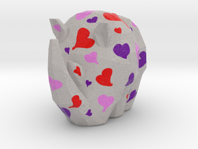 Cammo Rhino - Hearts in Natural Full Color Sandstone: Small