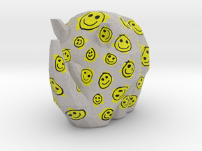 Cammo Rhino - Smileys in Natural Full Color Sandstone: Small