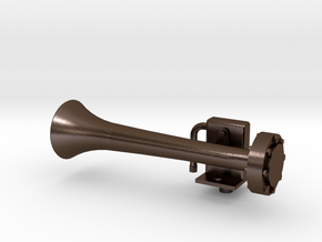 HORN1.5RtSidehustler.stl in Polished Bronze Steel