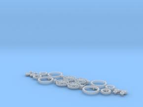 H0 1:87 Reifen für Wiking Hanomag R16 in Smooth Fine Detail Plastic