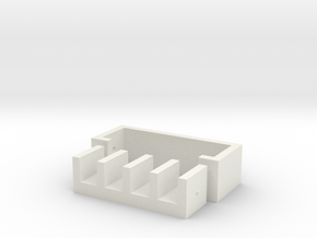Clip Holder Small in White Natural Versatile Plastic