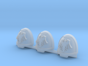 Space Crows Gravus shoulder pads x3L #2 in Smooth Fine Detail Plastic