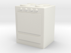 Stove 1/72 in White Natural Versatile Plastic