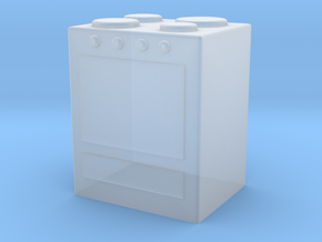 Stove 1/56 in Smooth Fine Detail Plastic
