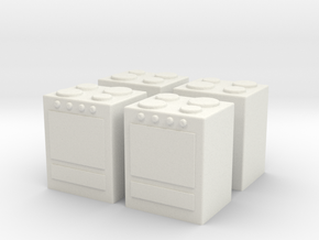 Stove (x4) 1/144 in White Natural Versatile Plastic