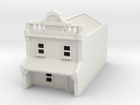 N Scale Terrace House 2 Storey (Single) 1:160 in White Natural Versatile Plastic