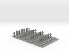 N Scale Cemetery Graves Graveyard (L) 1:160 in Metallic Plastic