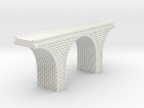 N Scale Arch Bridge Single Track 1:160 in White Natural Versatile Plastic