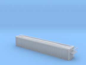 Trash Gondola 53foot - Nscale in Smooth Fine Detail Plastic