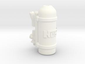 Nitrous Oxide Tank (NOS) 1\10 in White Processed Versatile Plastic: 1:10