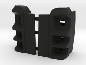 Axial Jeep cherokee Rear light buckets for lexan in Black Natural Versatile Plastic: 1:10
