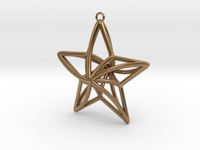 Twisted Star Necklace in Natural Brass