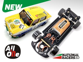 Chassis - Revell SIMCA 1000 Rallye 2 (Wide-In-AiO) in Black Natural Versatile Plastic