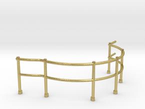 "1/48 USN Fletcher Roof Railing 1 ""Round Bridge"" v1 in Natural Brass"