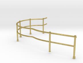 "1/48 USN Fletcher Roof Railing 5 ""Round Bridge"" v1 in Natural Brass"