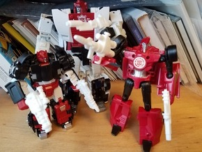 Sideswipe Weapons Set in White Natural Versatile Plastic: Medium