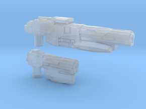 """""""SENTINEL"""" Transformers Weapons Set (5mm post) in Smooth Fine Detail Plastic"""