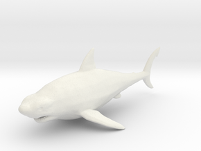 Megalodon shark kaiju monster miniature games rpg in White Natural Versatile Plastic