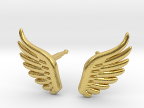 wings_stud_V2.1.1 in Polished Brass