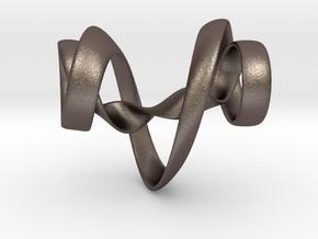 cinquefoil 052 steel in Polished Bronzed-Silver Steel