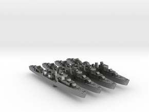 4pk S class British Destroyers 1:3000 WW2 in Natural Silver