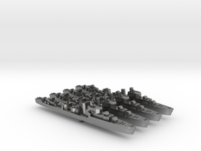4pk S class British Destroyers 1:2400 WW2 in Natural Silver