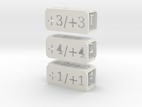 Counters for Magic MTG x3 in White Natural Versatile Plastic