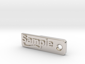 Material Sample - Sample Stand (ALL MATERIALS) in Platinum