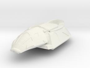 Serenity Shuttle in White Natural Versatile Plastic