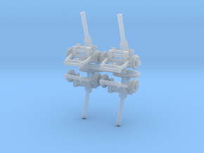 M160 Mortar (x4) 1/200 in Smooth Fine Detail Plastic