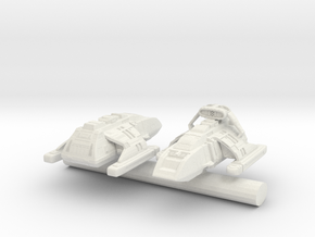 Danube Class Runabout 1/1400 scale in White Natural Versatile Plastic