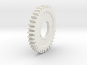 HPI #A442 - SPUR GEAR 37 TOOTH (1M) (ADAPTER TYPE) in White Natural Versatile Plastic