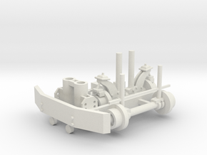 Hyrail With Bumper Parted 1-43 Scale in White Natural Versatile Plastic