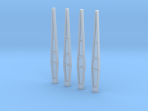 1:72 Saturn V Hold Downs in Smooth Fine Detail Plastic
