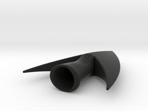 Swallow tail Medieval Arrow Head in Black Natural Versatile Plastic