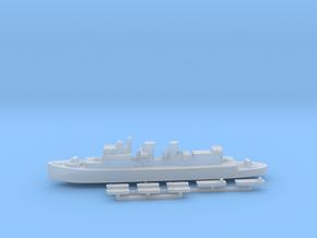 HMCS Prince David & landing craft 1:1800 in Smoothest Fine Detail Plastic