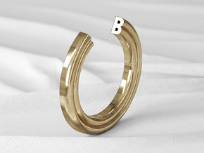 B Ring in Natural Bronze: 6 / 51.5