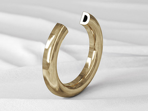 D Ring in Natural Bronze: 6 / 51.5